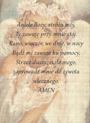 aniołek do wydruku