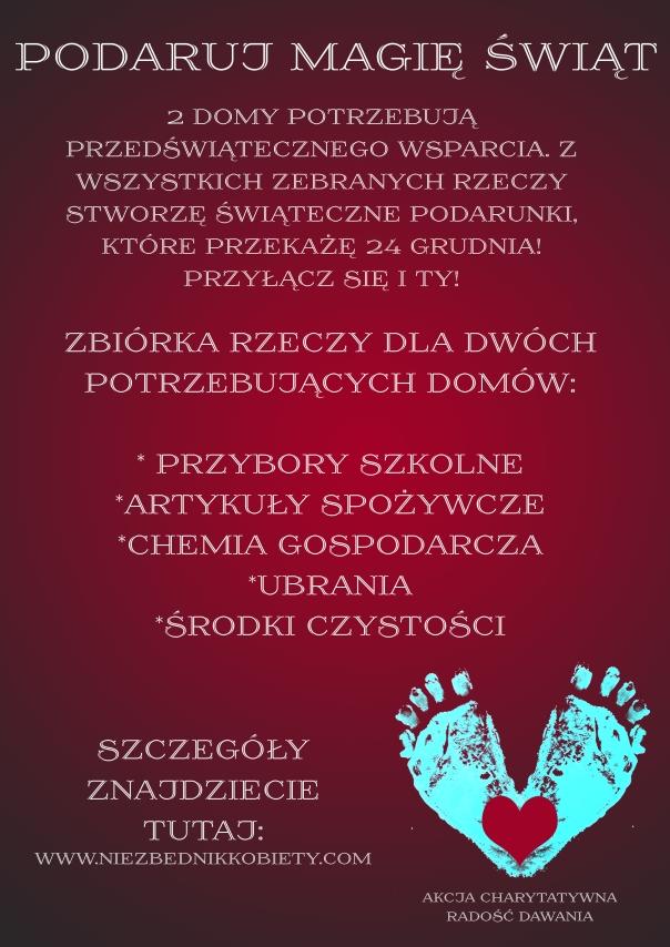 plakat radość dawania