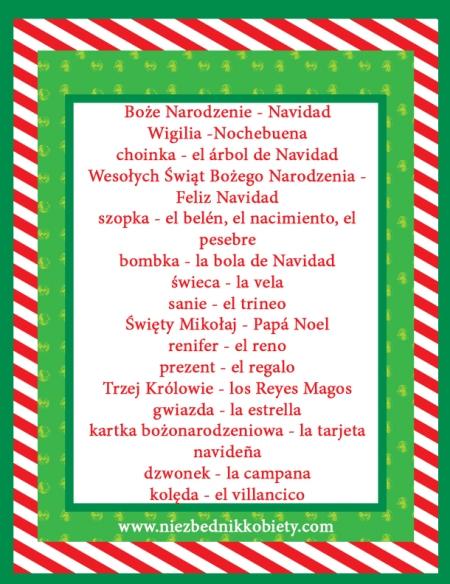hiszpańskie słówka święta